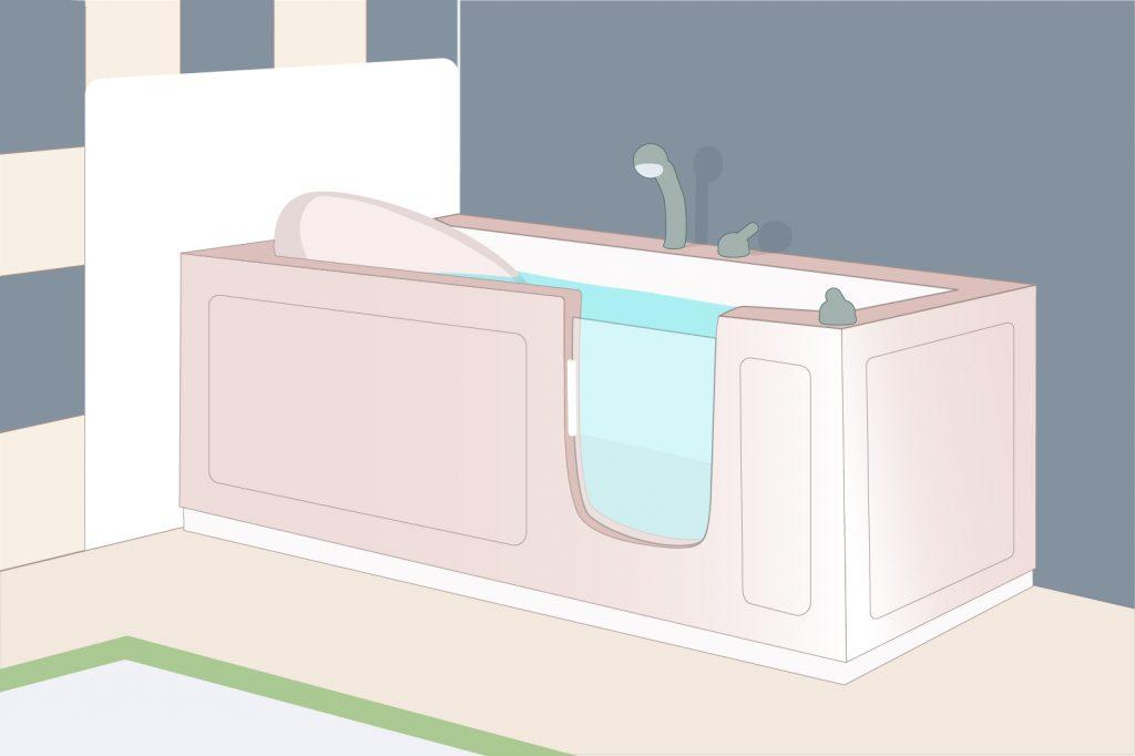 Recumbent bathtub